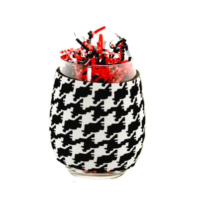 Houndstooth Wine Coozie